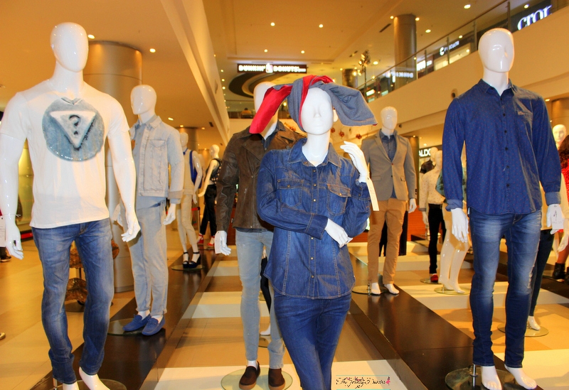mannequins styled in fall winte looks at phoenix market city bangalore