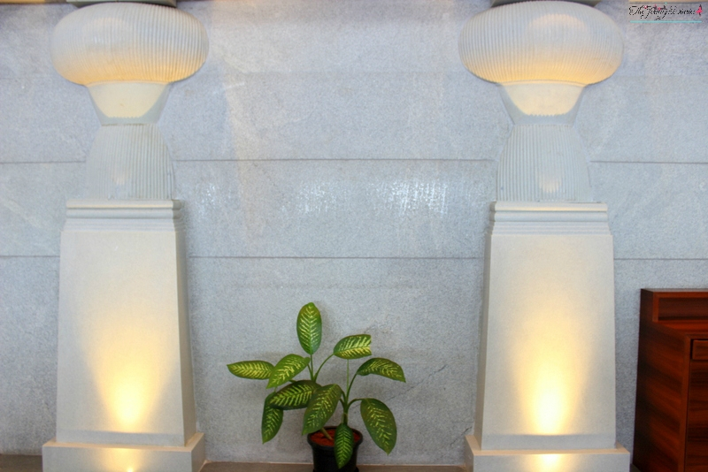pillars at above ground level lounge bangalore