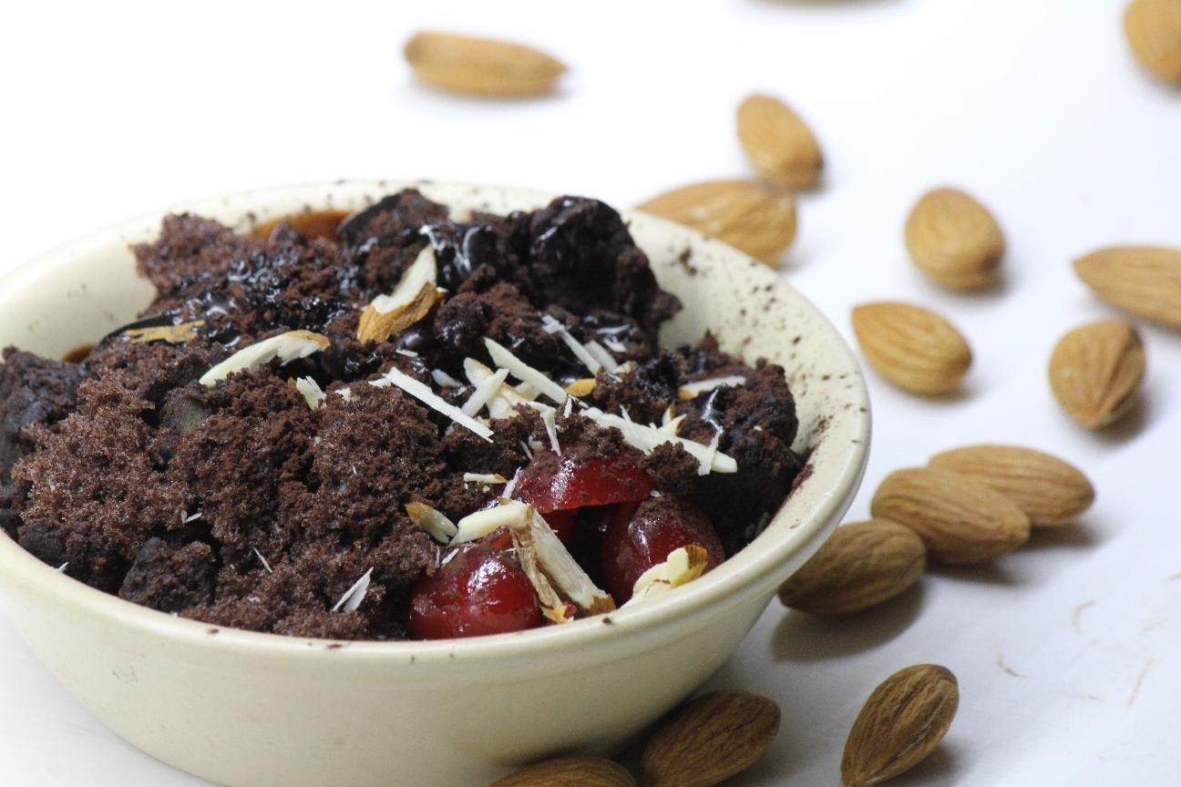 Chocolate cherry clafoutis