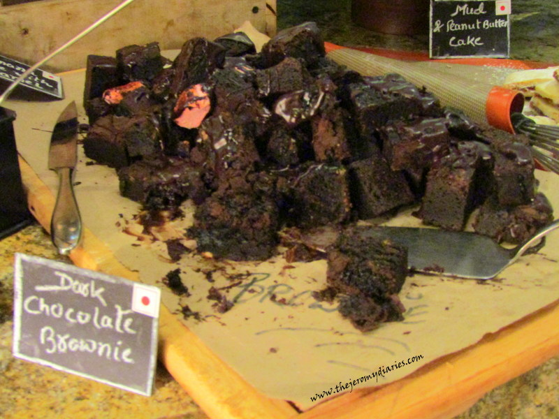 chocolate brownie at marriott whitefield bangalore the indian culinary route