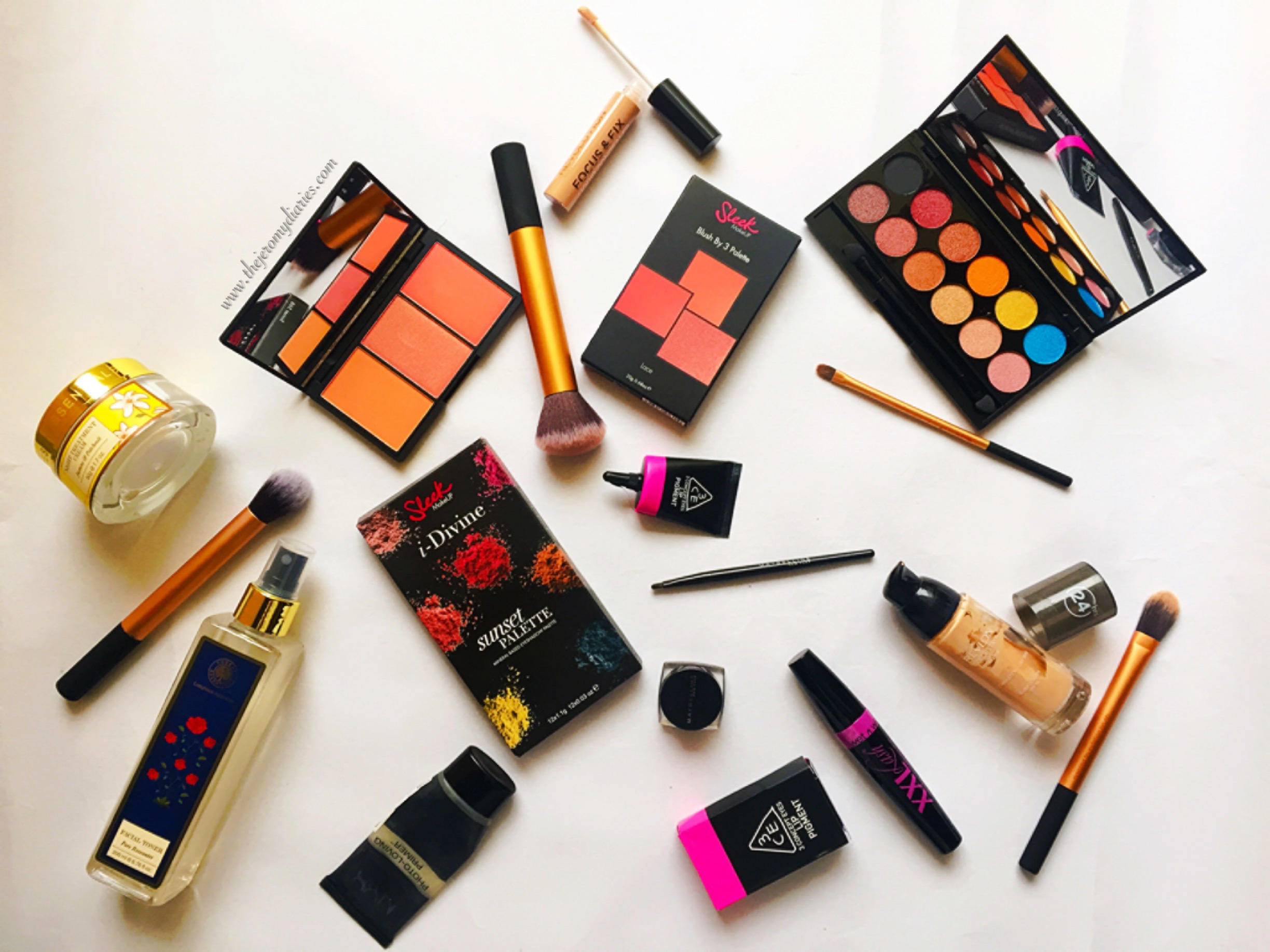 makeup products used in fall 2015 festive makeup look luxola x the jeromy diaries