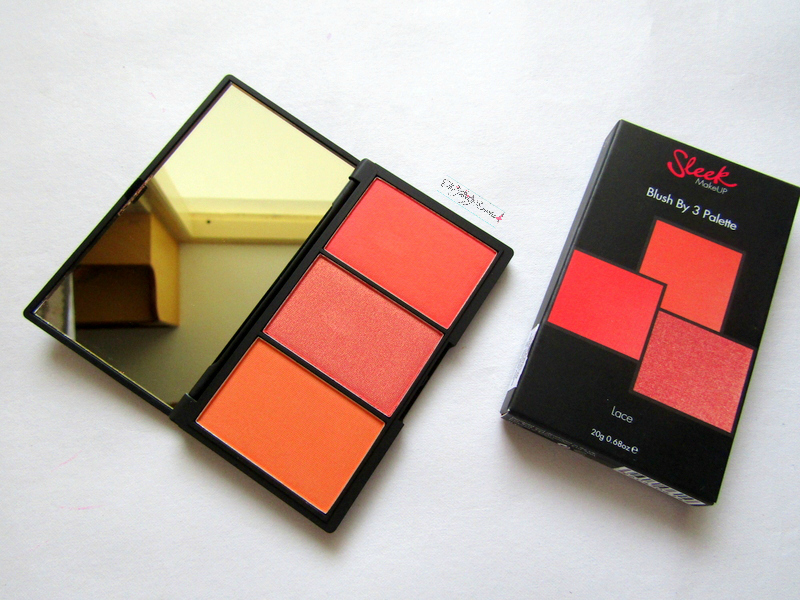 sleek makeup blush by 3 palette in lace