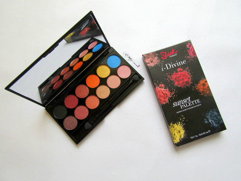 sleek makeup i-divine sunset palette