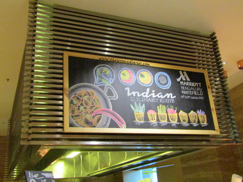 the indian culinary route marriott whitefield bangalore