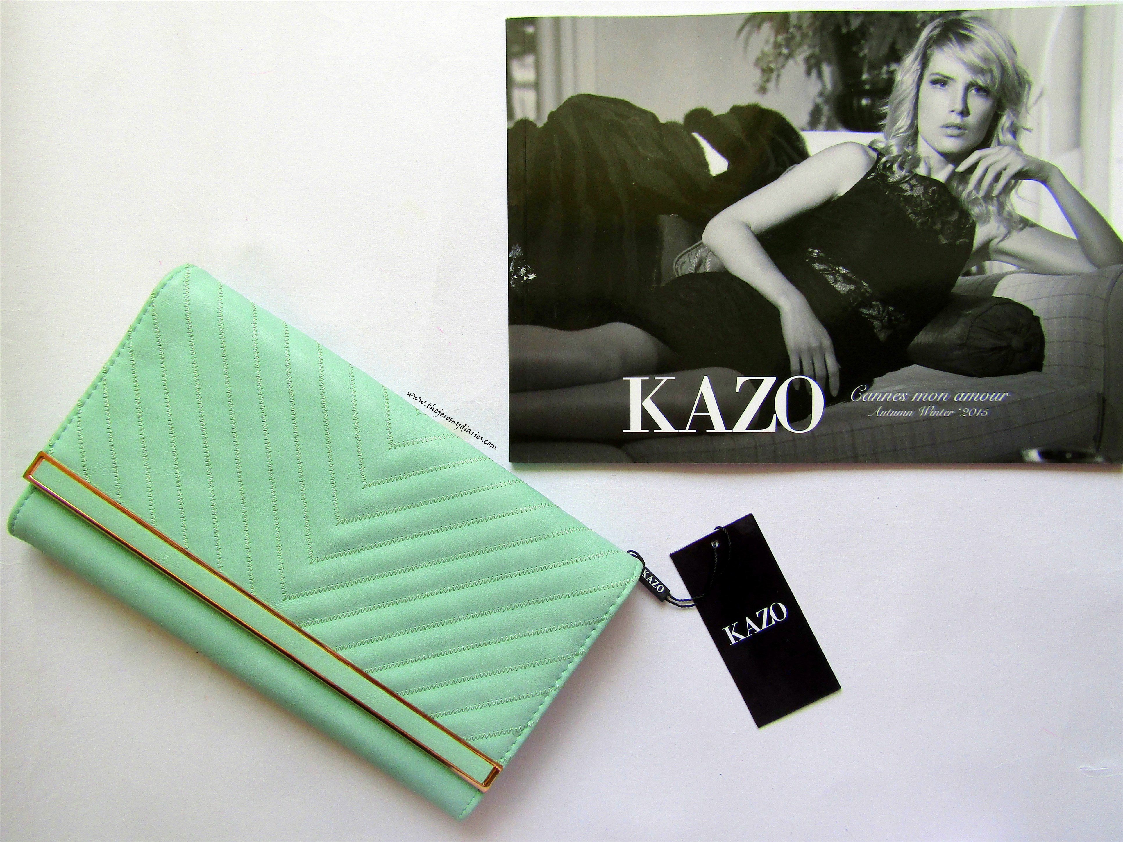KAZO pastel green clutch | The Jeromy Diaries