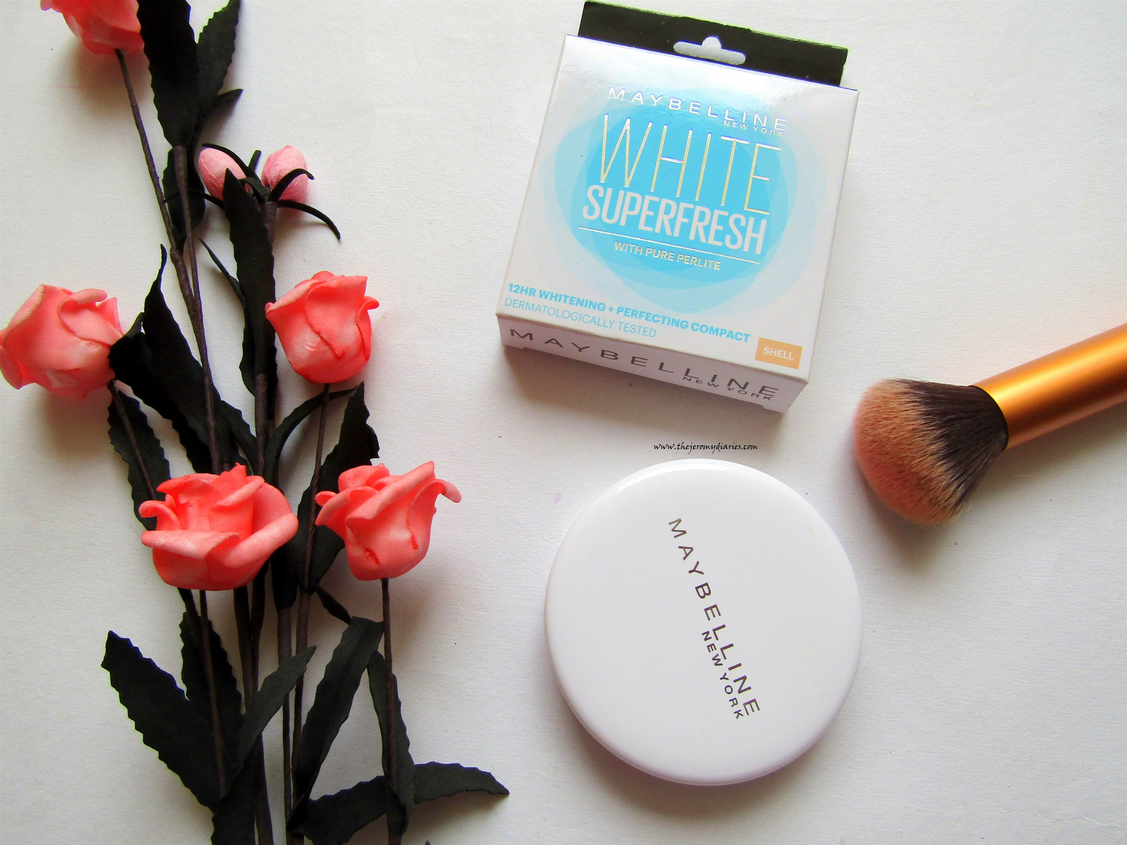 maybelline white super fresh compact powder review in the shade shell the jeromy diaries (3864 x 2898)