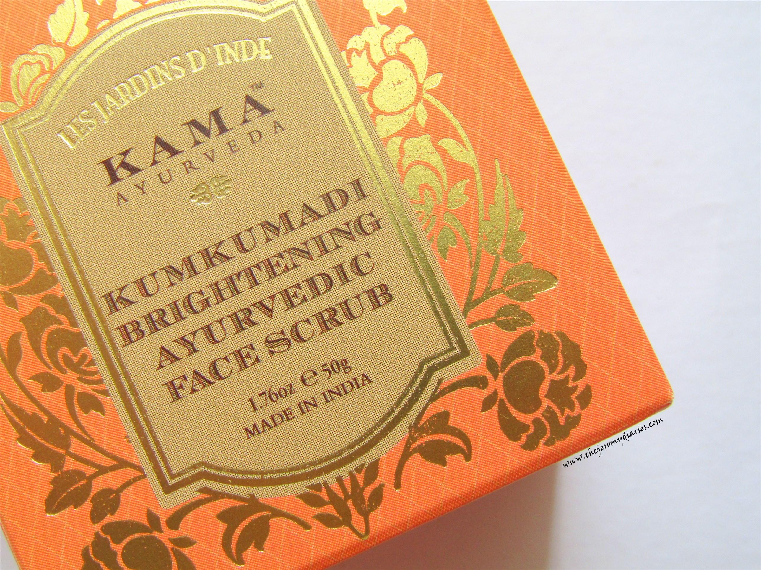 kama ayurveda kumkumadi brightening ayurvedic face scrub the jeromy diaries