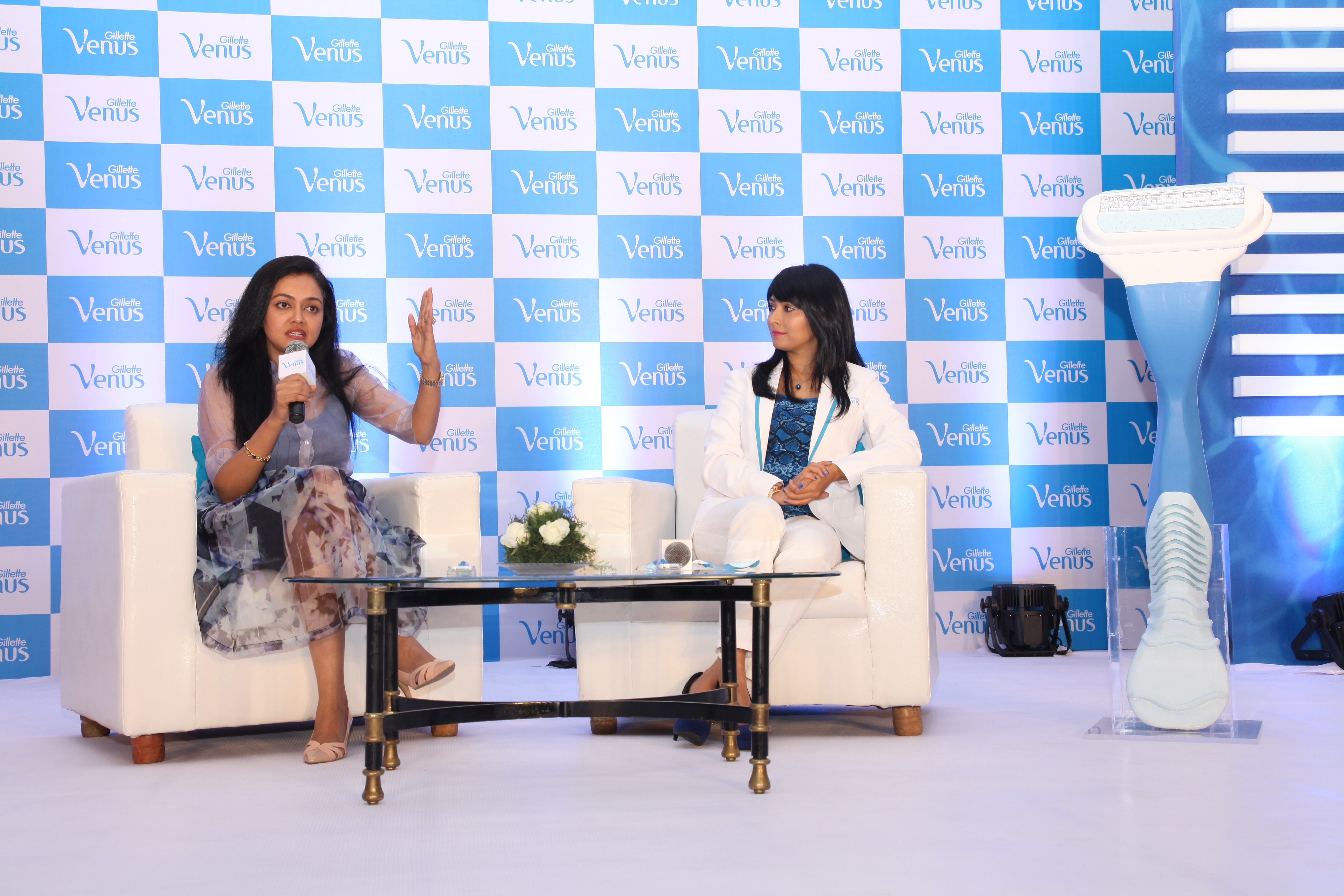 radhika pandit and doctor rashmi shetty busting shaving myths at gillette venus subscribe to smooth event bangalore