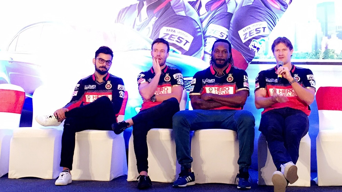 rcb players virat kohli chris gayle ab de villiers shane watson for tata motors zest the jeromy diaries