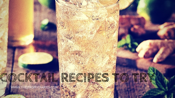 cocktail recipes to try the jeromy diaries