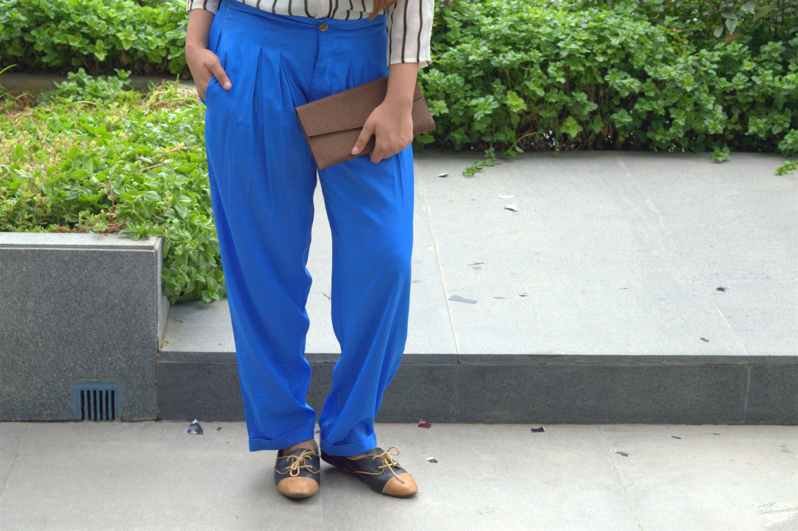 pleated blue palazzos from american swan the jeromy diaries