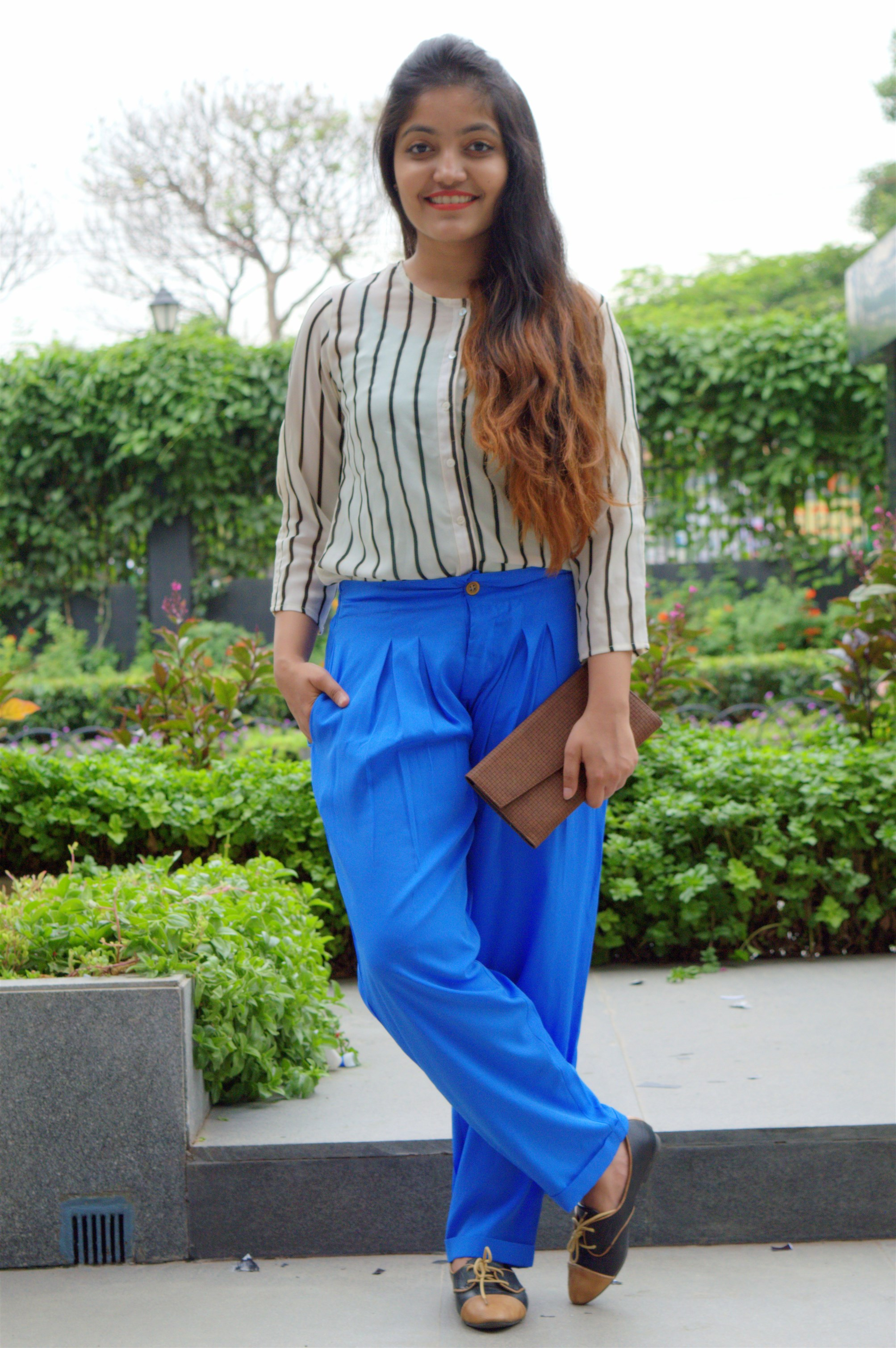 the jeromy diaries styled pleated palazzos with american swan