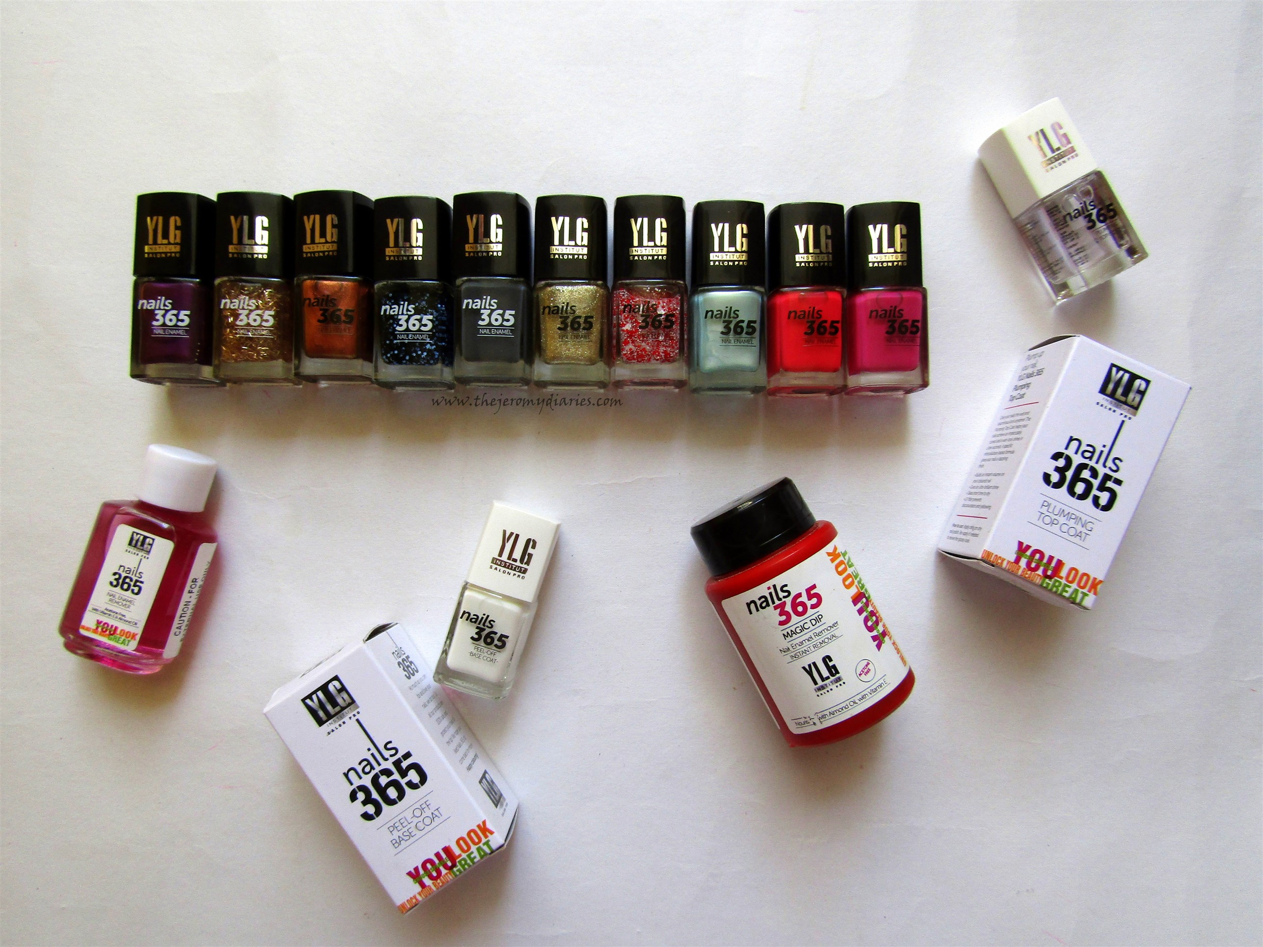 ylg nails 365 nail care range nail paints x the jeromy diaries