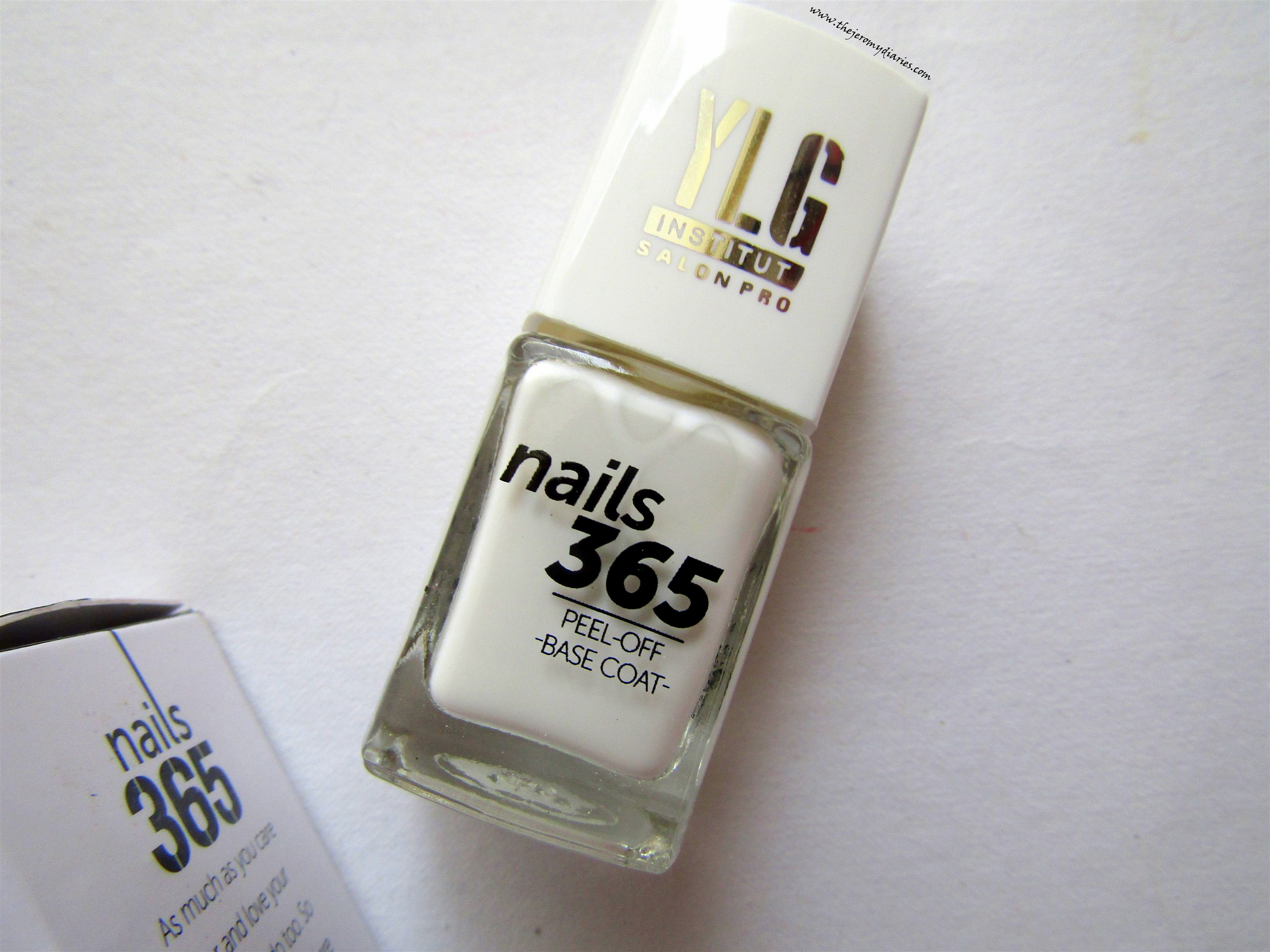 ylg nails 365 nail care range peel off base coat for easy removal of glitter nail paints