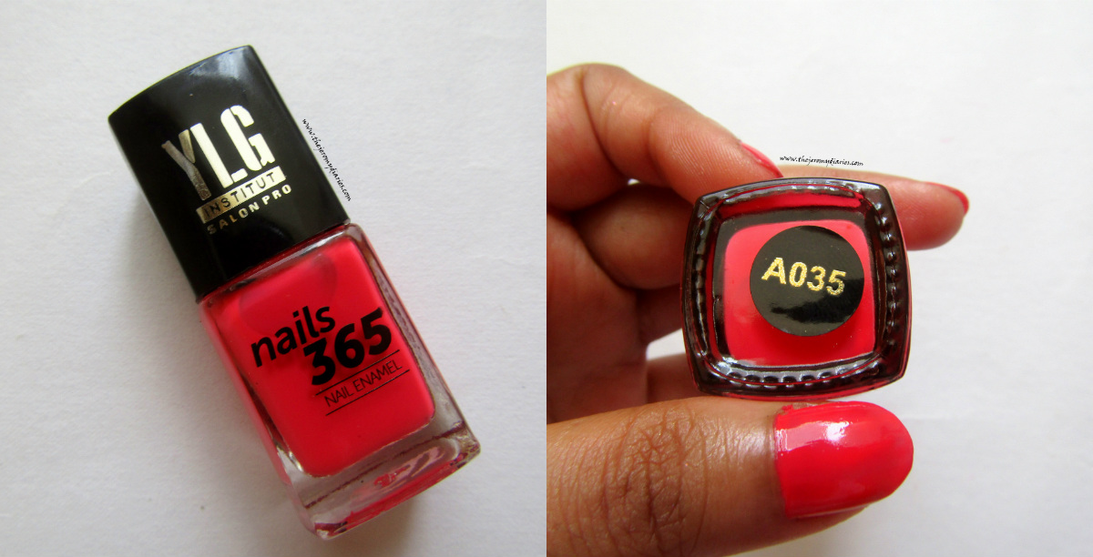 ylg nails 365 red shade the jeromy diaries
