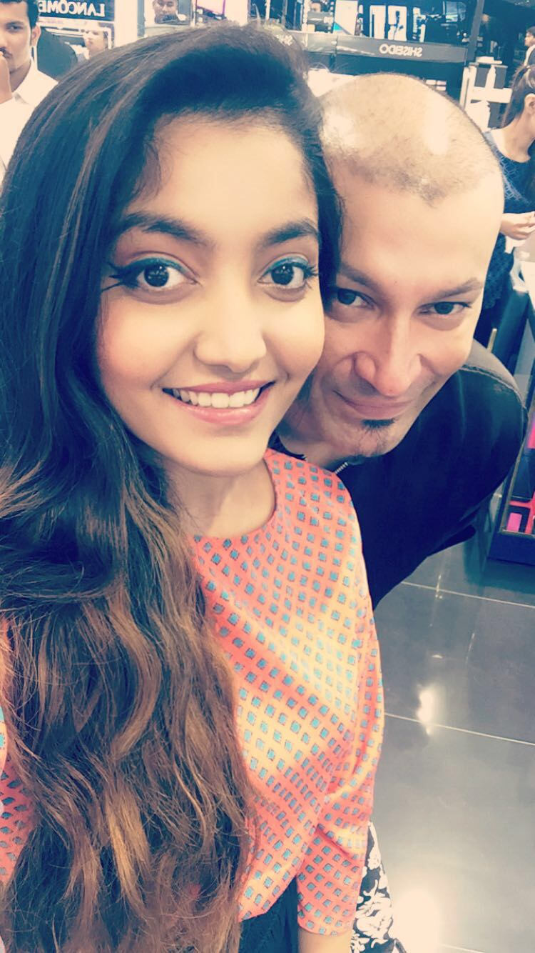 princy mascarenhas beauty blogger the jeromy diaries with national makeup artist and trainer ajoy sengupta