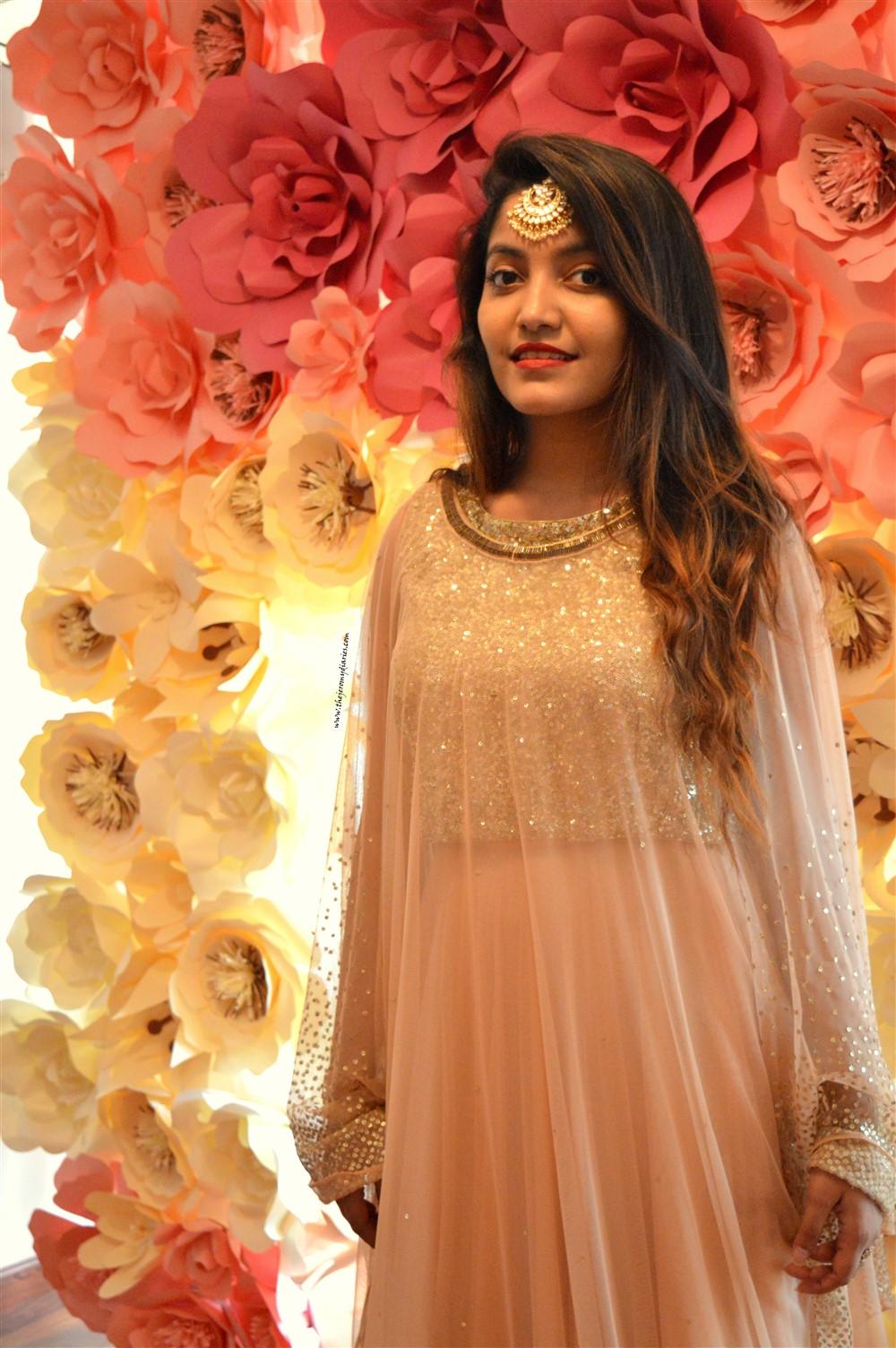 anahe designer jannat mehra golden cap lehenga the jeromy diaries