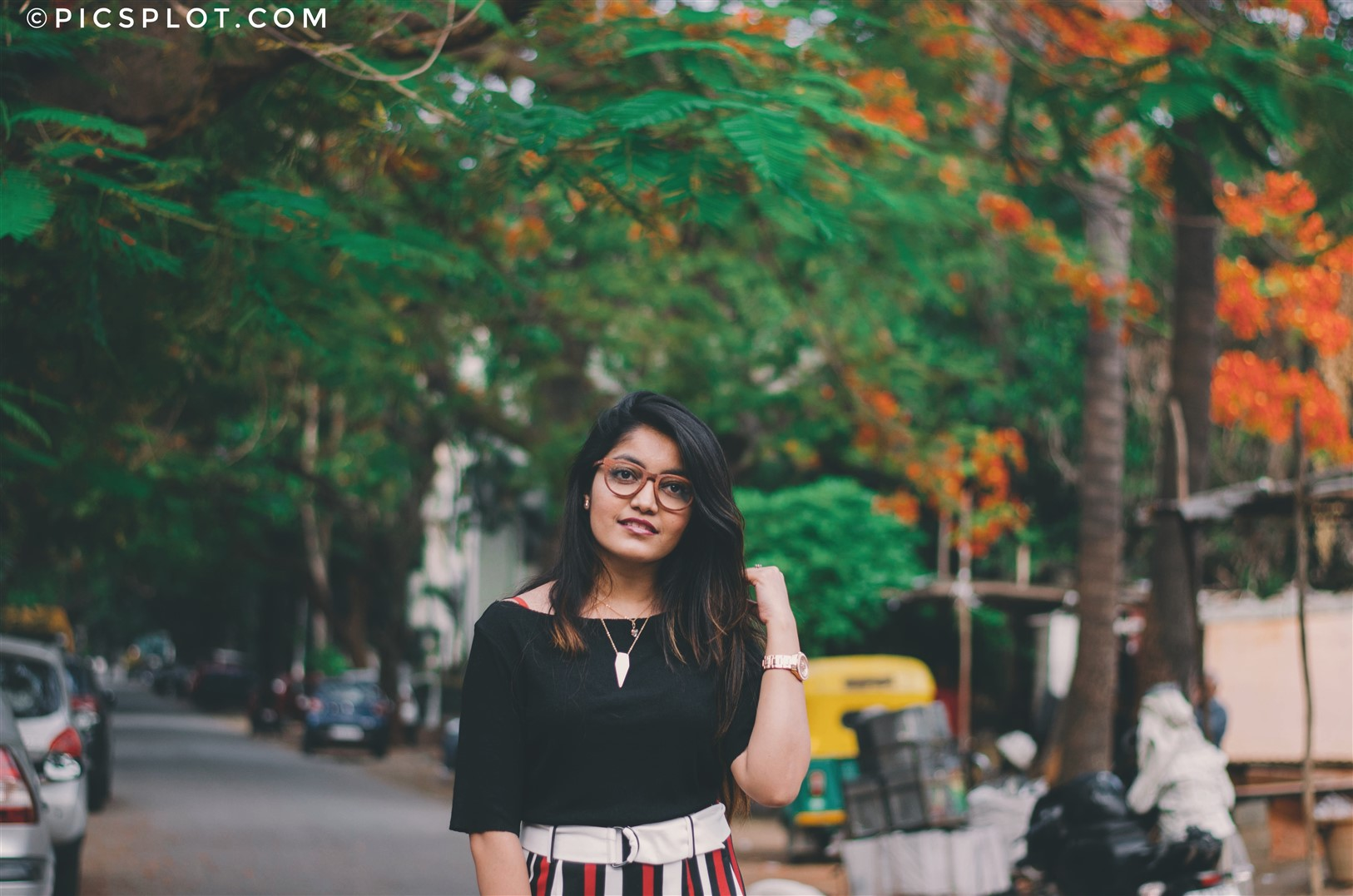 bangalore fashion blogger the jeromy diaries princy mascarenhas wearing rose wooden spectacles