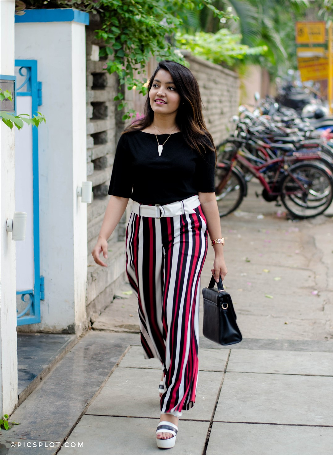 best striped palazzos the jeromy diaries bangalore fashion blogger