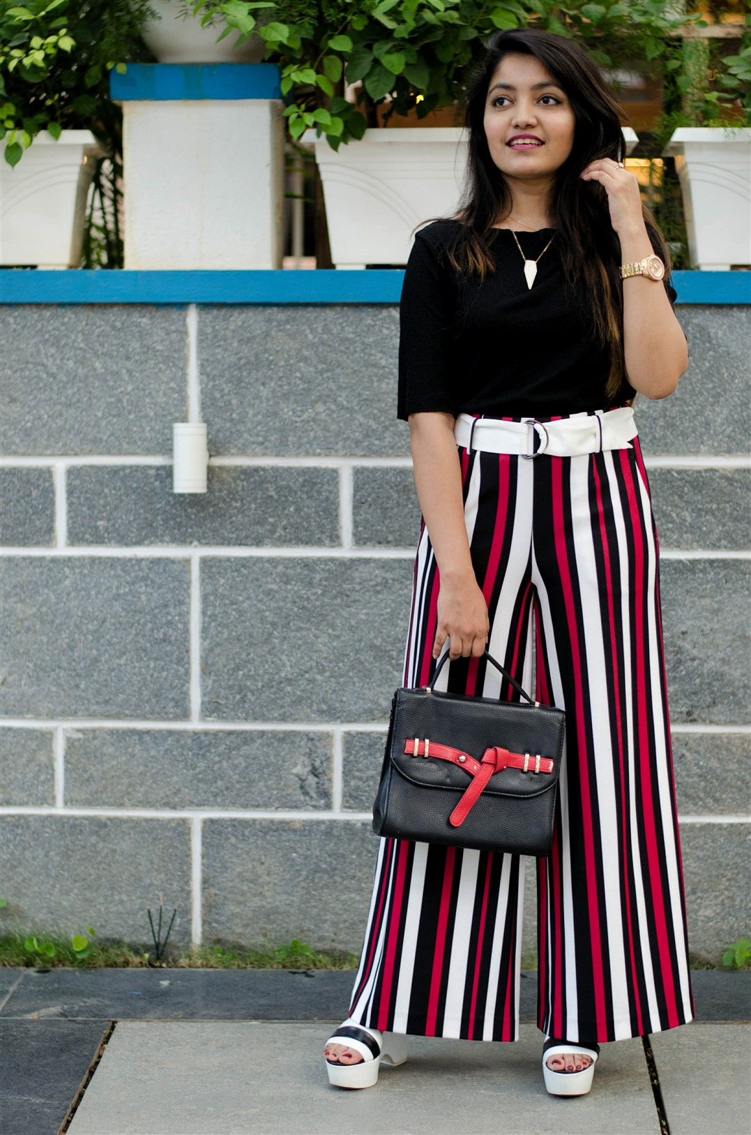 vertical stiped palazzos splash the jeromy diaries indian fashion blogger