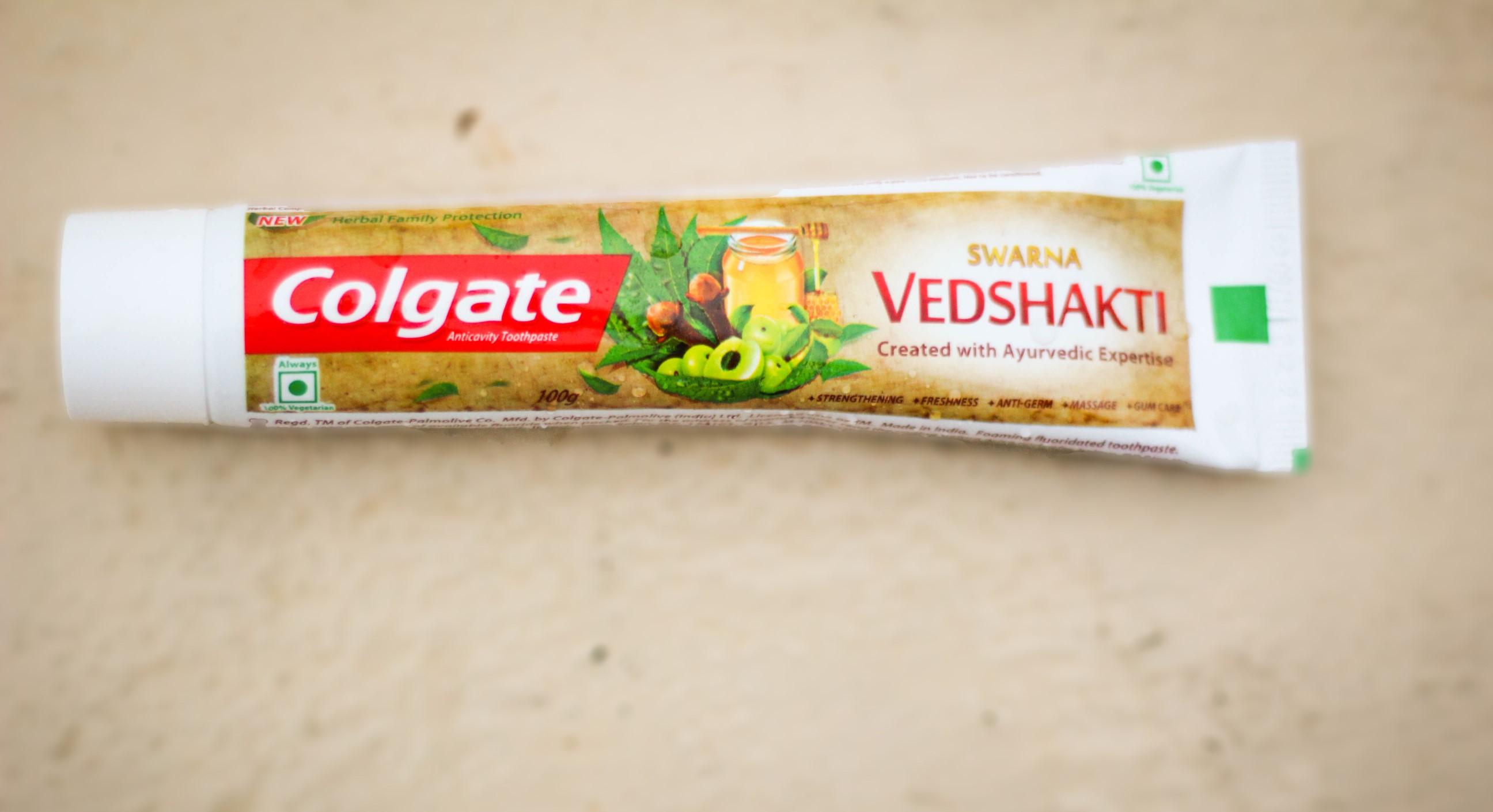 colgate vedshakti toothpaste india