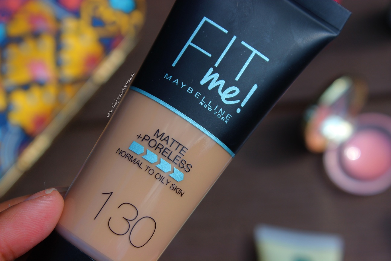 maybelline fit me matte poreless foundation in the shade 130