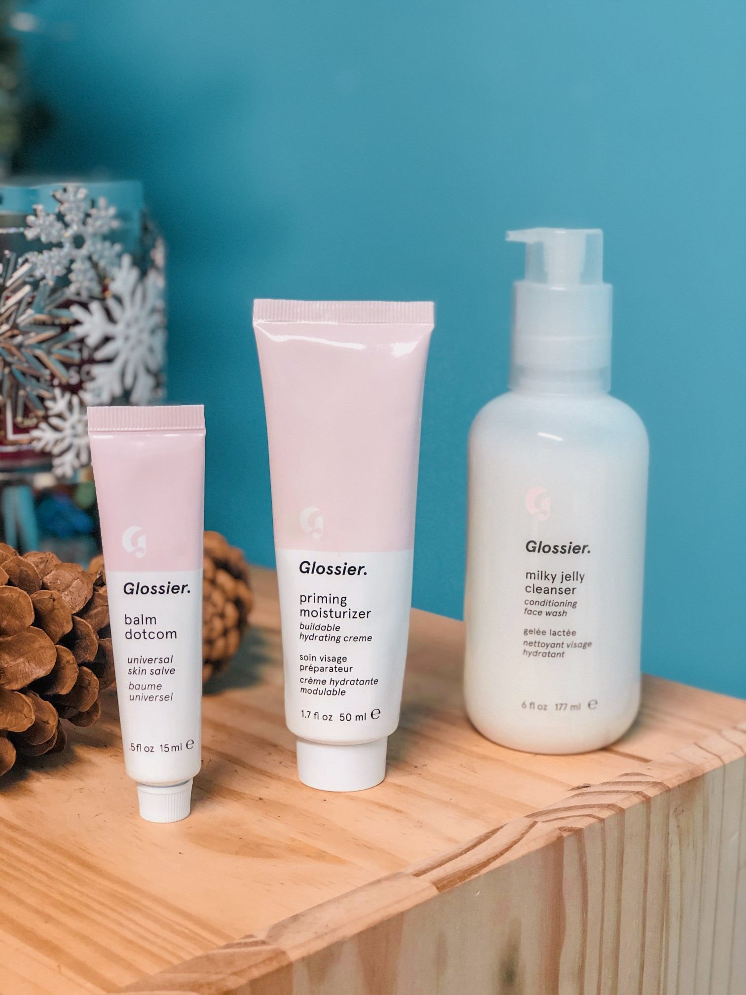 glossier the skincare set the jeromy diaries
